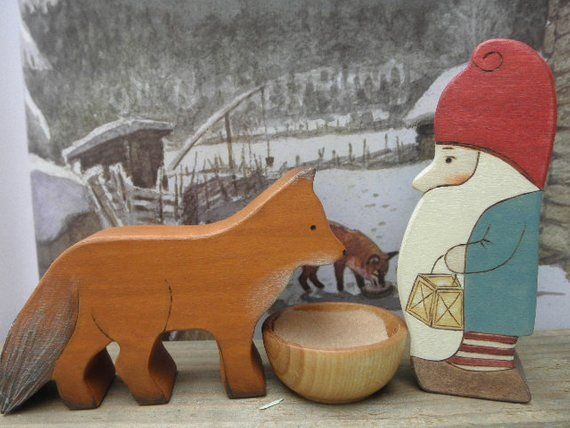 Wood Toy Set The Tomten And The Fox Story Book Series Wood Toys Kids Wooden Toys Toys