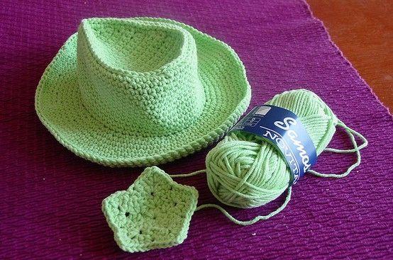 Crochet Cowboy Hat Pattern For Toddler : Toddler size cowboy hat crochet pattern. I found the ...