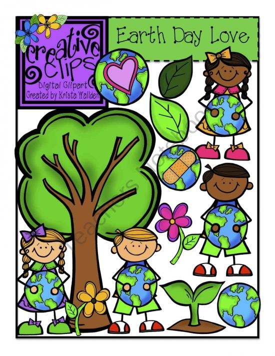 Earth Day Love Clipart product from Creative-Clips-Clipart on TeachersNotebook.com