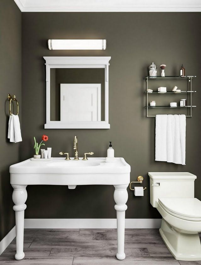 Olive Green Bathroom With Bead Detail Green Bathroom Olive Green Bathrooms Bathroom Colors