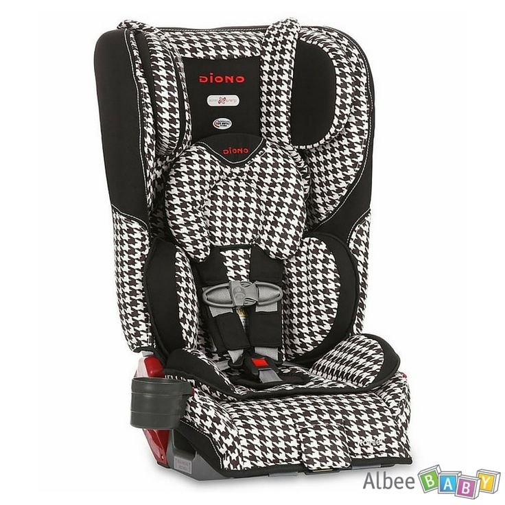 SAVE 24% -  Diono Rainier Convertible + Booster Car Seat - White Houndstooth - WAS $379.99, NOW $289.99. The Diono Rainier is the ultimate in car seat safety with new extra deep side walls providing enhanced side impact protection taking Diono car seats to a whole new level. www.albeebaby.com