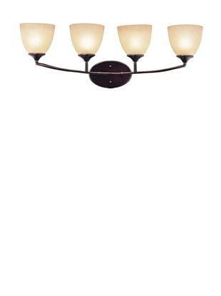 Trans Globe Lighting Pullman 4-Light Bath Bar, Rubbed Oil Bronze