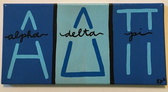 Custom Sorority Block Letter Canvas by KimberlyPaigePorter on Etsy