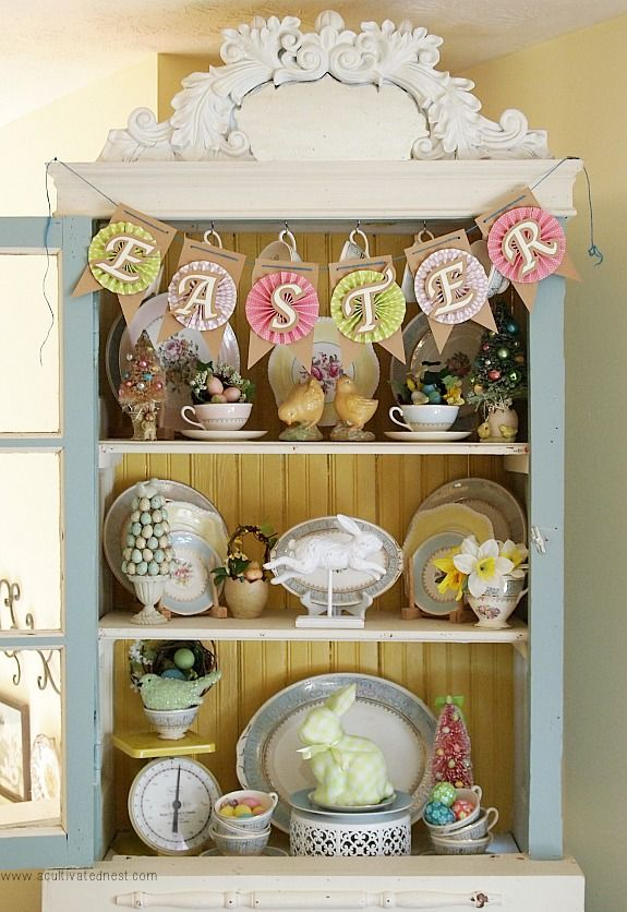 17 Best Images About Easter Hutch Displays On Pinterest Crafts Search And Bakers Kitchen