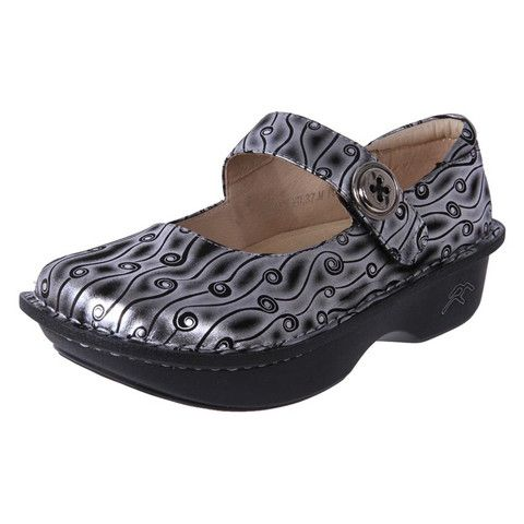 Rock Bottom Mary Jane Anti Slip Work shoes Bailey Silver Dream | The Shoe Link