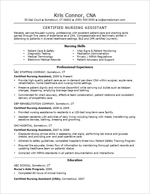 cna certified nursing assistant resume sample foto bugil Home - nursing attendant sample resume