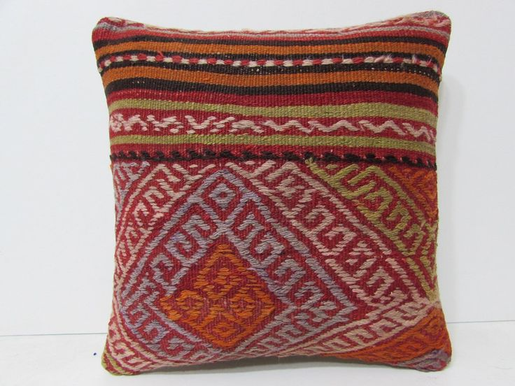 decorative pillow case 18x18 embroidery pillow case rustic pillow sham large moroccan floor ...