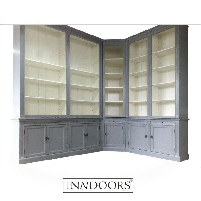 Maatwerk Boekenkast met Hoek - Inndoors Meubelen en Interieur