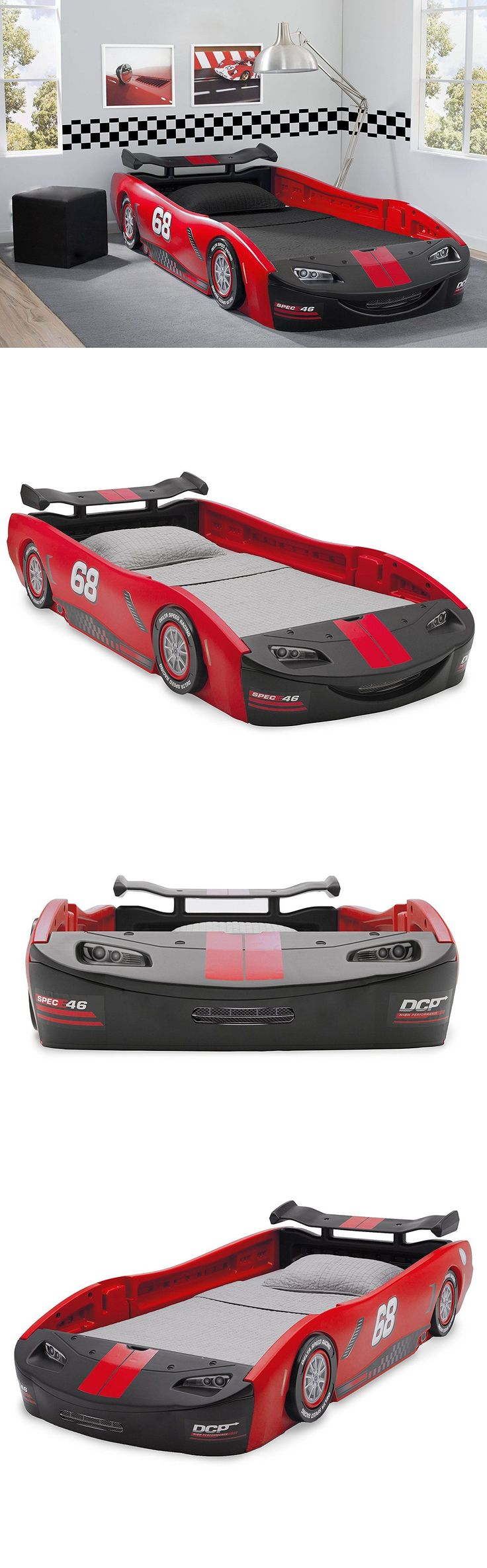 Kids Furniture: Car Bed Turbo Race Twin Delta Boys Children Bedroom Kids Bed Toddler Furniture BUY IT NOW ONLY: $225.85