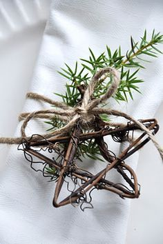 Use a sprig of rosemary.