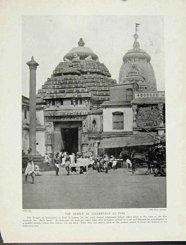 Lord Jagannath Temple, Puri, Orissa. 1931.