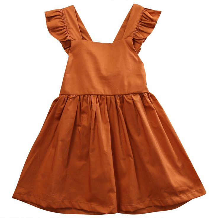 Girls' Tulle Fly Sleeve Princess Dress Cotton Tulle Tutu Gown For Toddler Girl 0-4T (3-4Y, Bronze). Material: 100% Cotton Blending. Package included: 1x Girl Dress. Fly sleeve pure color dress for spring, summer, autumn. Lovely Cotton halter dress would be the best gift for your little princess. Super nice tutu princess dress design, suitable for Outside, Party, Wedding, Easter, Birthday Party. Wash care: Gentle Cycle Wash and Hang Dry Recommended.