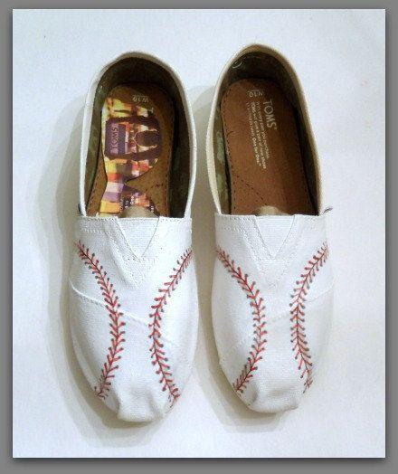 Men's TOMS Custom Baseball TOMS Shoes Custom by Solescreations