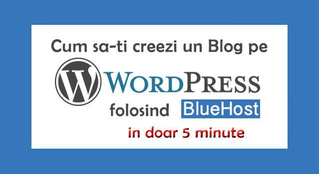 Cum sa creezi un blog pe Wordpress in 5 minute [Tutorial] - http://www.cristinne.ro/cum-creezi-blog-pe-wordpress/  BlueHost face extrem de usoara crearea unui blog nou pe WordPress. Cu un singur clic iti poti crea blogul si poti incepe sa scrii pe el. Clic Aici pentru a-ti crea un cont pe BlueHost Vrei sa iti arat pasii pe care trebuie sa ii faci pentru a-ti crea un blog? Nici o problema. Urmareste mai jos,...