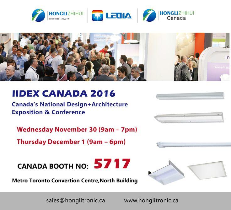 Exhibitior Invitator/2016 IIdex Canada-LED lighting Show