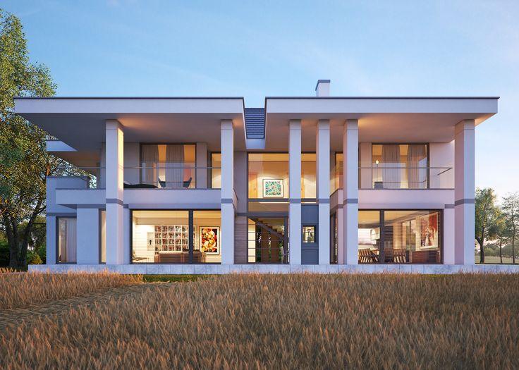 LK&1251 projekt domu w stylu nowoczesnym #architektura #domy #nowoczesne #LK&Projekt #architekci