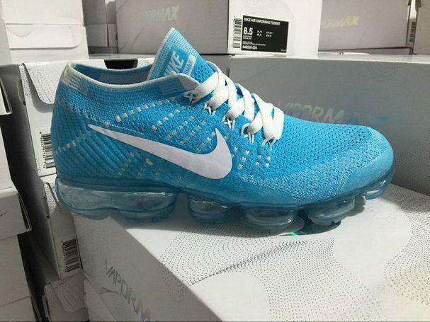 93845f69bbcc Size 7 NikeLab Air VaporMax Flyknit Blue Orbit 849558-402 Glacier Blue  Sneaker