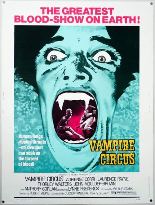 Image result for vampire circus 1972 poster