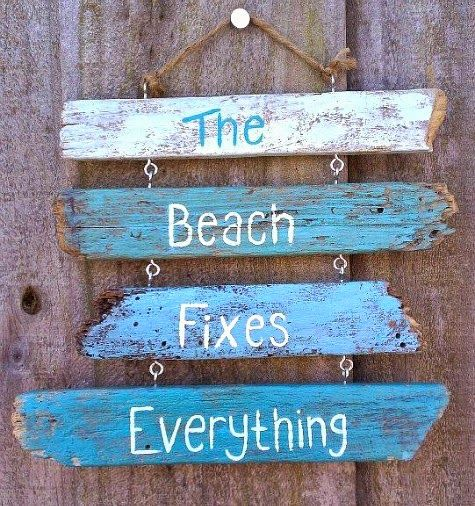 DIY Ideas for Driftwood Signs with Words, Sayings and Quotes, no tutorial