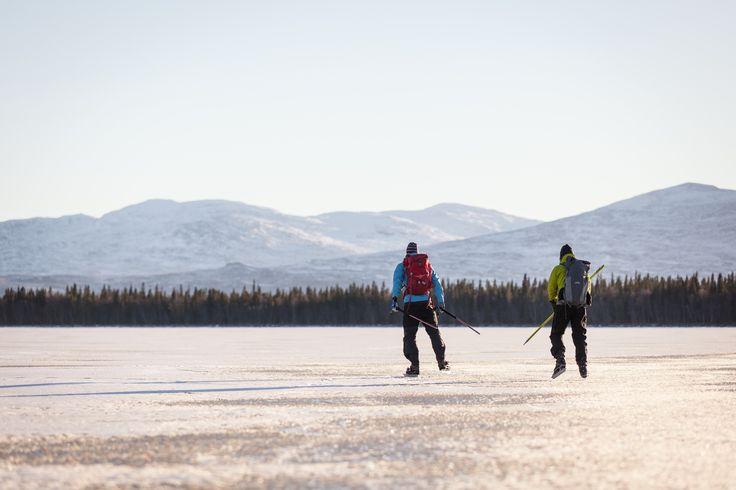Endless ice skating