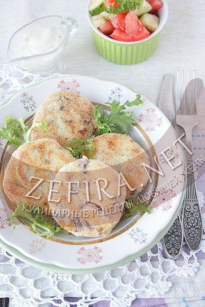 Картопляники с грибами  – рецепт и фото