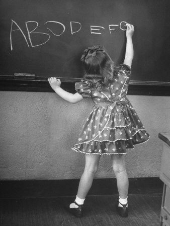 I remember when I had to take my turn at the blackboard...only my memory is about doing arithmatic.