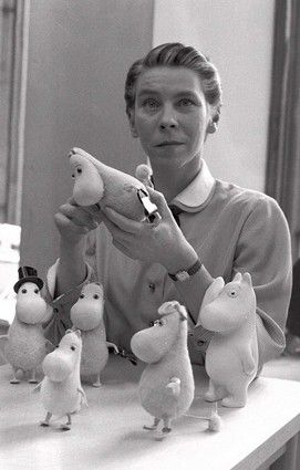 Tove Jansson, author of Moomin books.  My Mummu brought us these books when we were little. Mommin is a huge part of your childhood as a Finn.