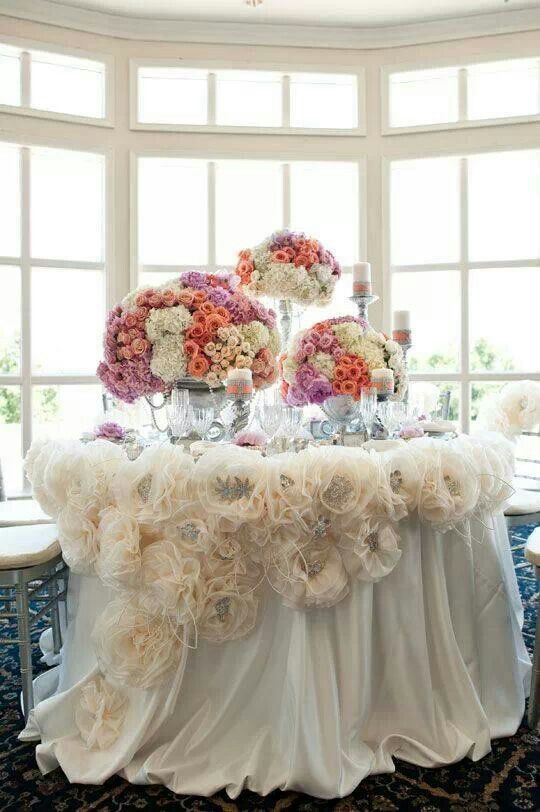 Organza flower dressings
