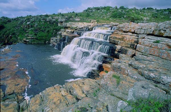 Mkambati falls, Mkambati river, Mkambati game reserve, Transkei, Eastern Cape Province, South Africa photo
