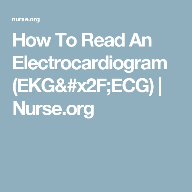 How To Read An Electrocardiogram (EKG/ECG) | Nurse.org