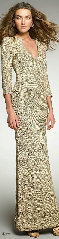 Inspirações de Croche com Any Lucy: Vestido/Oscar De La Renta: