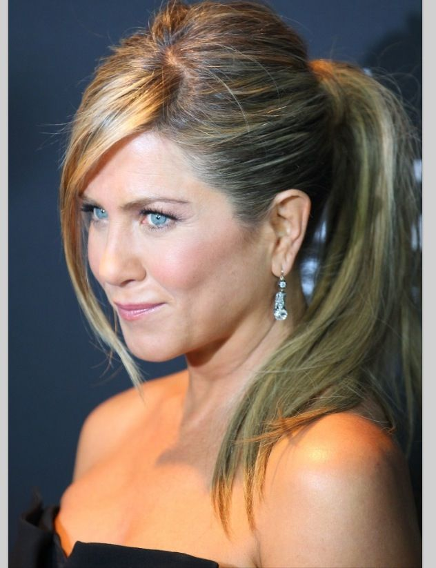 Jennifer Aniston hair ponytail