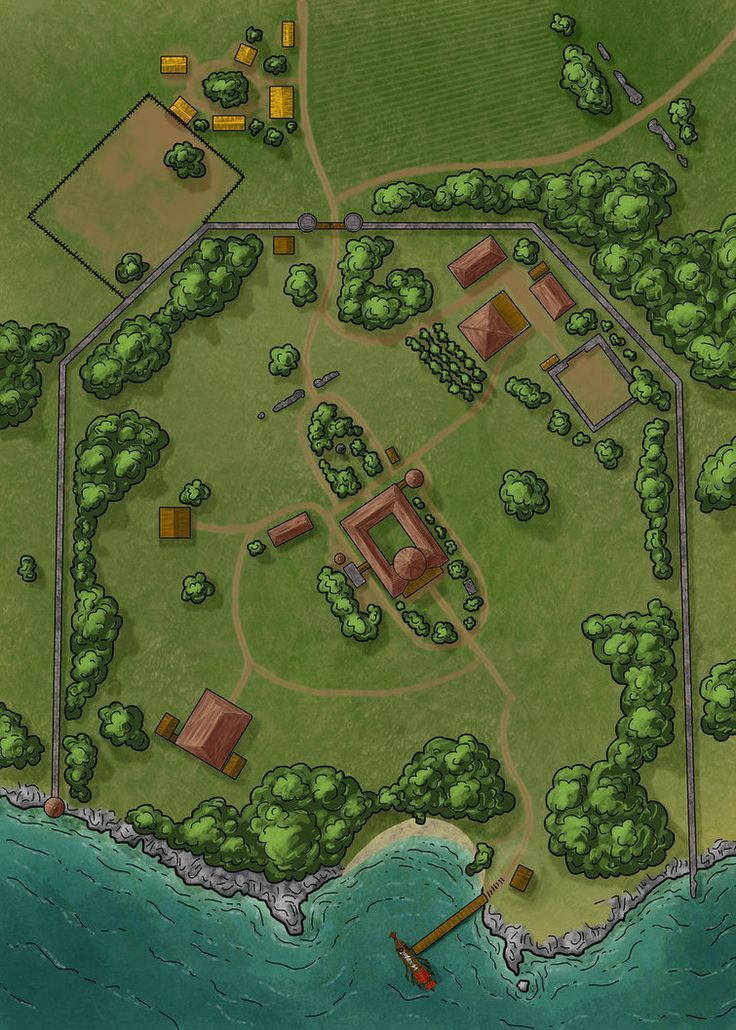 Wealthy land owners estate