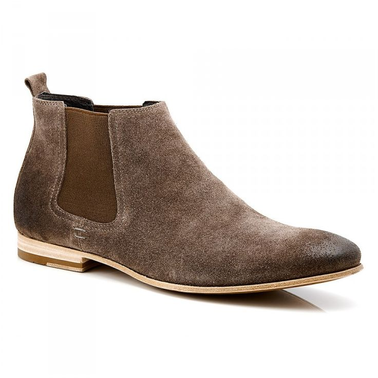 Men's Suede Chelsea Boot #Suede #chelsea #chelseaboot #mensboots #aquila #leathersole #brown