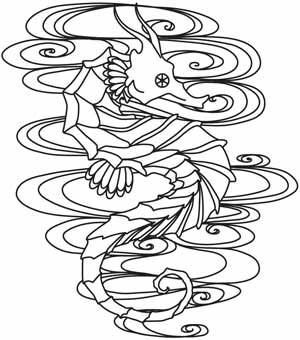 The Seven Seas - Seahorse Tattoo   Urban Threads: Unique and Awesome Embroidery Designs (#UTH5280) 7 September 2012