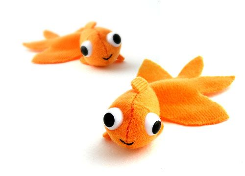 Felt Goldfish. You'd never have to change his water!