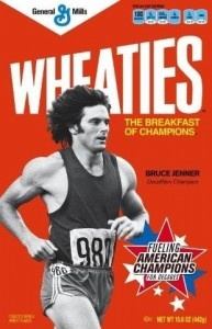 Wheaties - Bruce Jenner-Ran with him on the Bruce Jenner train in Wauconda:)