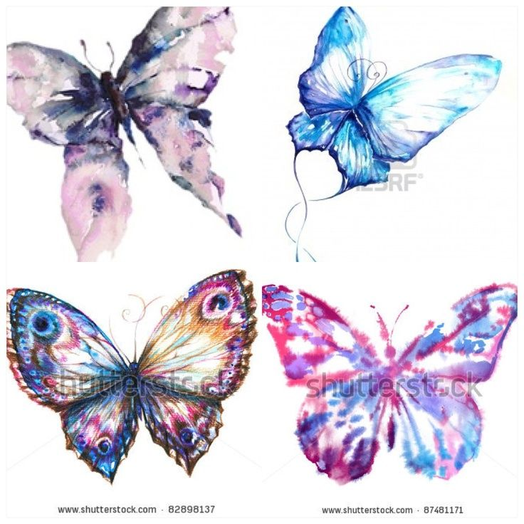 watercolor butterfly tattoo | Watercolor Butterflies for future tattoo | Tattoos&Piercings