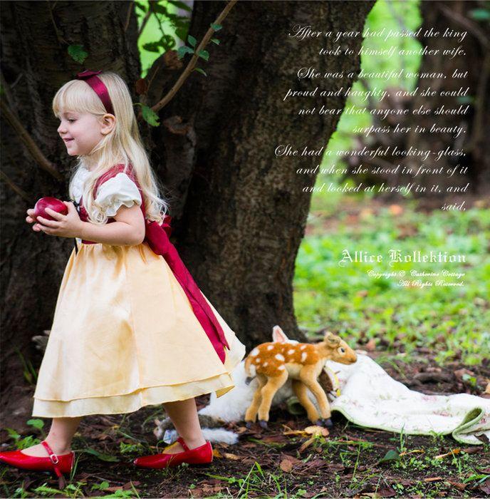 【子供服】白雪姫みたい♪ PC548OP。ハロウィン衣装 子供 白雪姫 メルヘンレースアップドレス[子供服 衣装 女の子 ワンピース 100 110 120 130 140 cm ハロウィーン キッズ 結婚式 発表会 女の子用 プリンセス コスチューム お姫様 子供 ドレス 子供  ]【キャサリンコテージ】