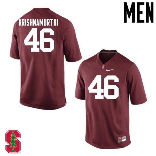 Men Stanford Cardinal 46 Sidhart Krishnamurthi College Football Jerseys Sale Cardinal Stanford Cardinal Jersey Football Jerseys