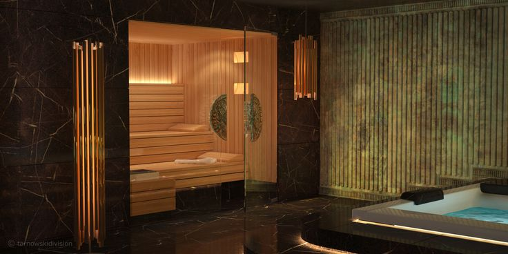 HOME SPA. INTERIOR. SAUNA AND JACUZZI. designed by tarnowskidivision