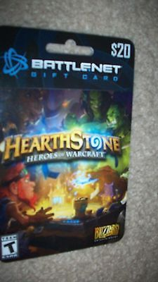 Blizzard Battle.net $20 Charge Up Prepaid Hearthstone Gift Card ...