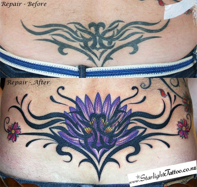 Tattoo Repairs and Cover ups by Starlight Tattoo and Piercing Studio