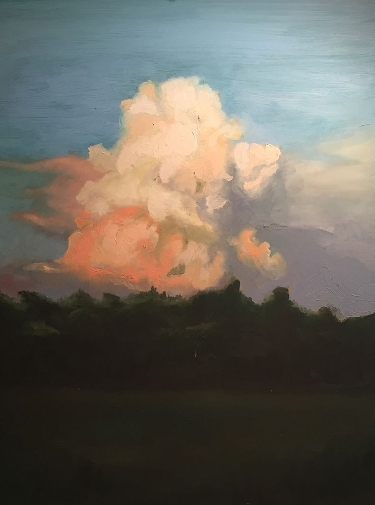 """Cloud Study"" by Jaeson Tanner - Oil on Masonite (inspired by a photograph by Isaac Tanner."