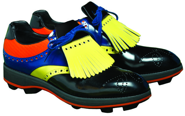 PRADA Multi-colored tasseled spectator golf shoes, $690; available ...