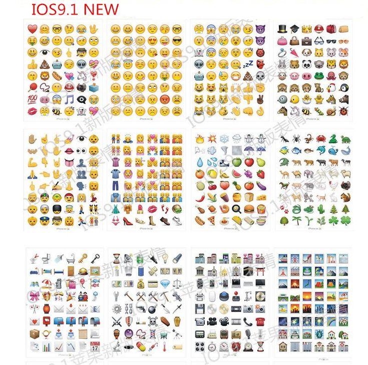 Купить товар10 лист(ов) / lot IOS 9.1 новые увлекательные Emoji улыбка…