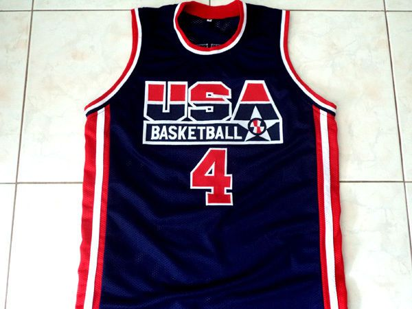 CHRISTIAN LAETTNER #4 TEAM USA BASKETBALL JERSEY NEW NAVY BLUE - ANY SIZE #Unbranded #USA