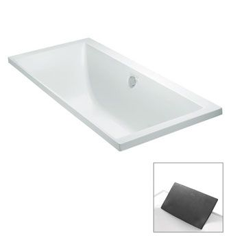 Evok® 1800mm Drop-In Bath  Features:    Drop-in acrylic bath (fully reinforced)  Also available as a 1675mm drop-in bath  Tapware can be mounted on the bath rim  Optional accessory: Evok charcoal bath pillow