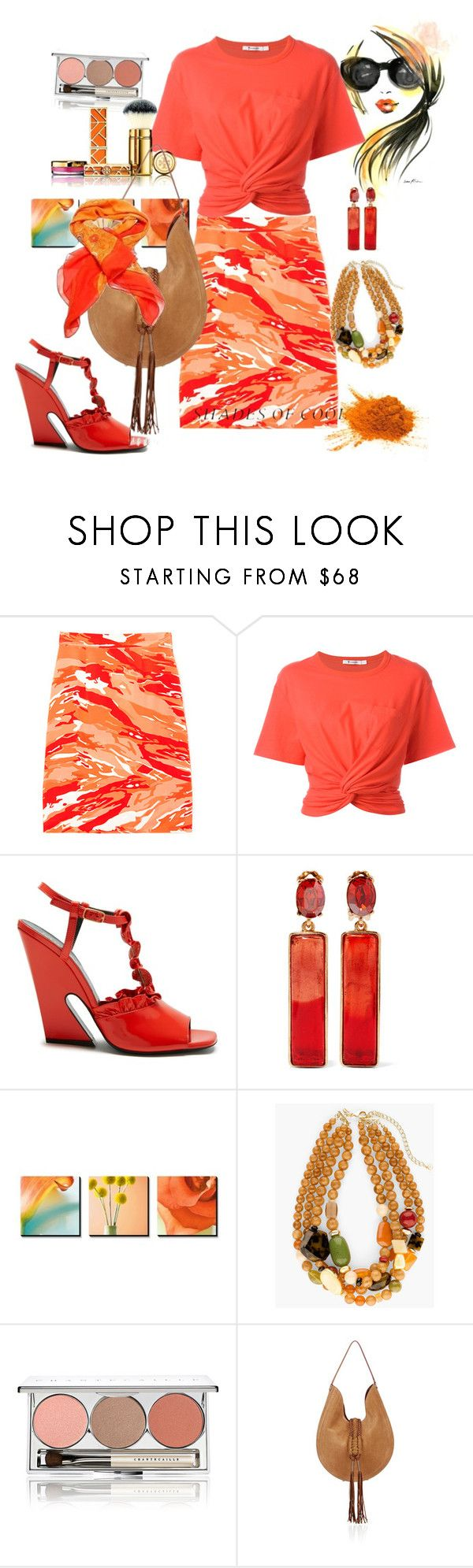 """Untitled #436"" by csfshawn on Polyvore featuring Mother of Pearl, T By Alexander Wang, Mulberry, Oscar de la Renta, Chico's, Chantecaille, Tory Burch, Altuzarra and Hermès"