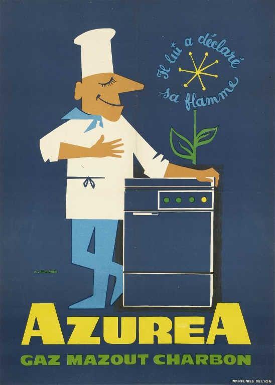 Azurea - Gaz, mazout, charbon - Cuisinière -